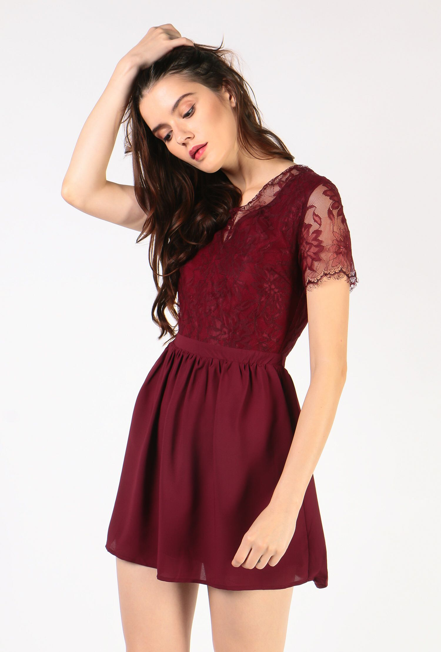 ac052681e1b Dressabelle Lace Contrast Fit   Flare Dress - Size M