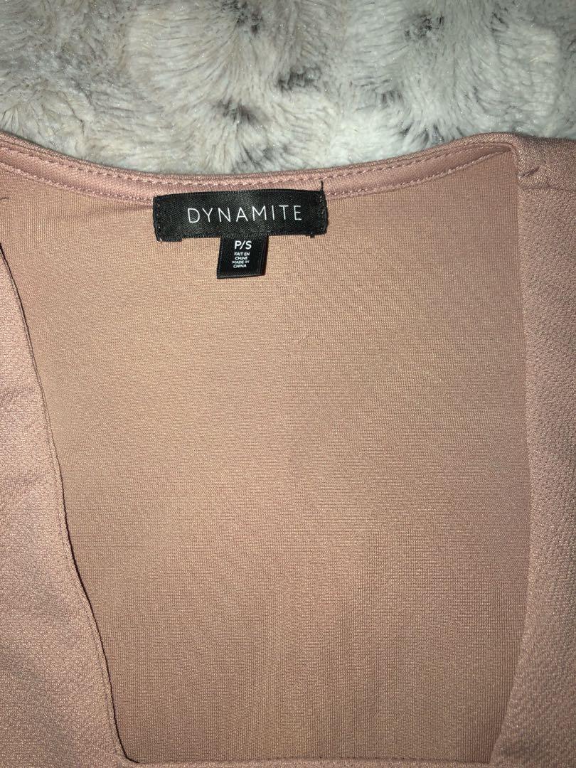 Dynamite deep V bodysuit!!