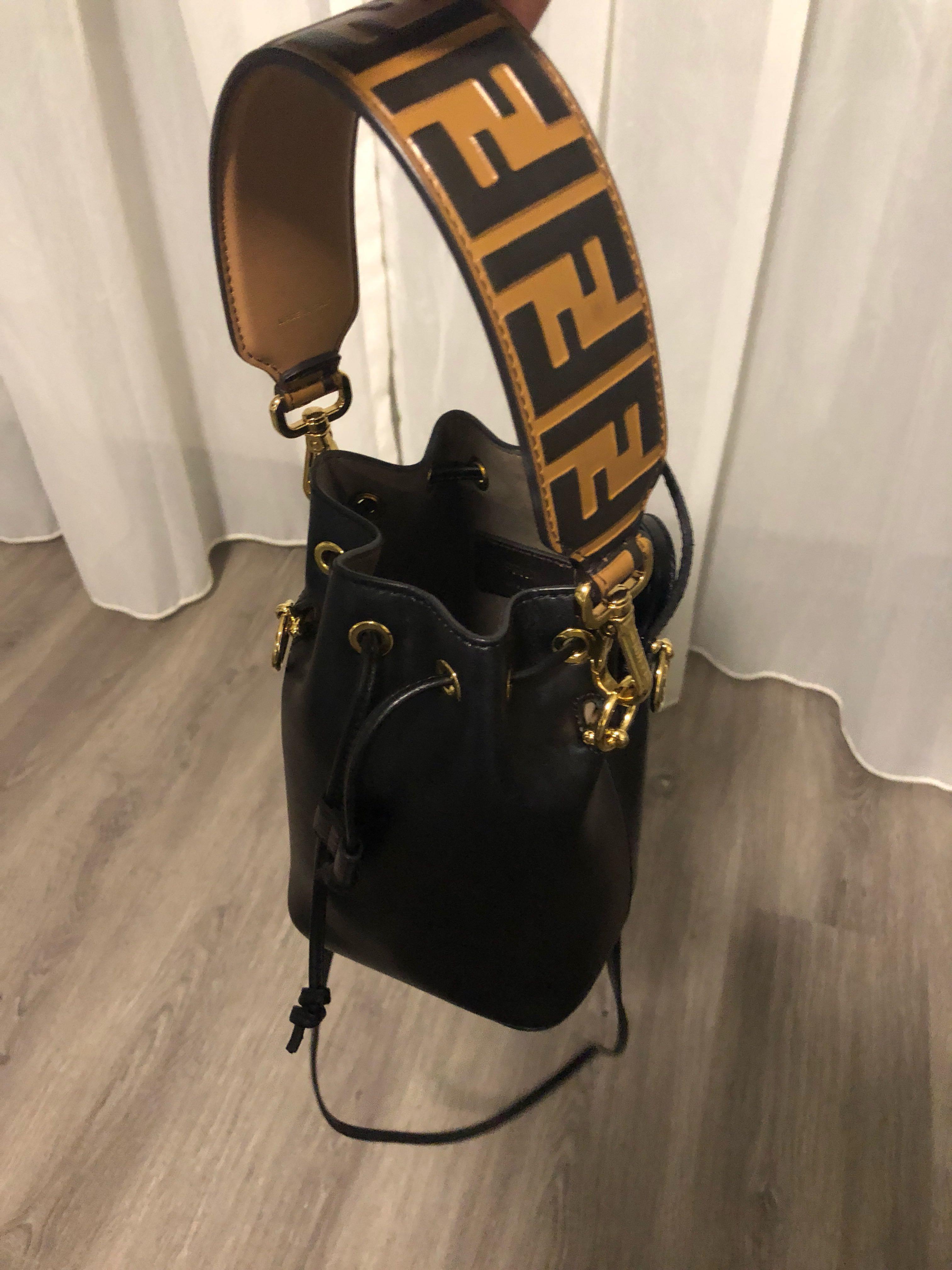 2c154ff59bf Fendi Mon Tresor Black (Selling Pairing with extra short Monogram Strap,  Women s Fashion, Bags   Wallets, Handbags on Carousell