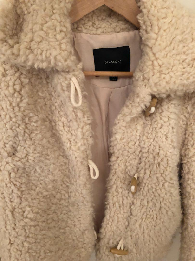 Glassons Cropped Teddy Jacket