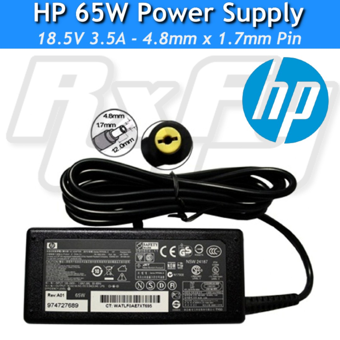 Hp Original 65w Power Adaptor Charger Ac Supply 48 X 17mm Compaq Laptop Nc4000 Nc8000 Presario Pavilion Electronics Computer Parts Accessories On Carousell
