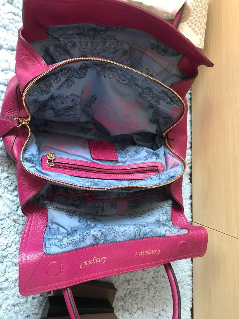 Lancel purple leather handbag