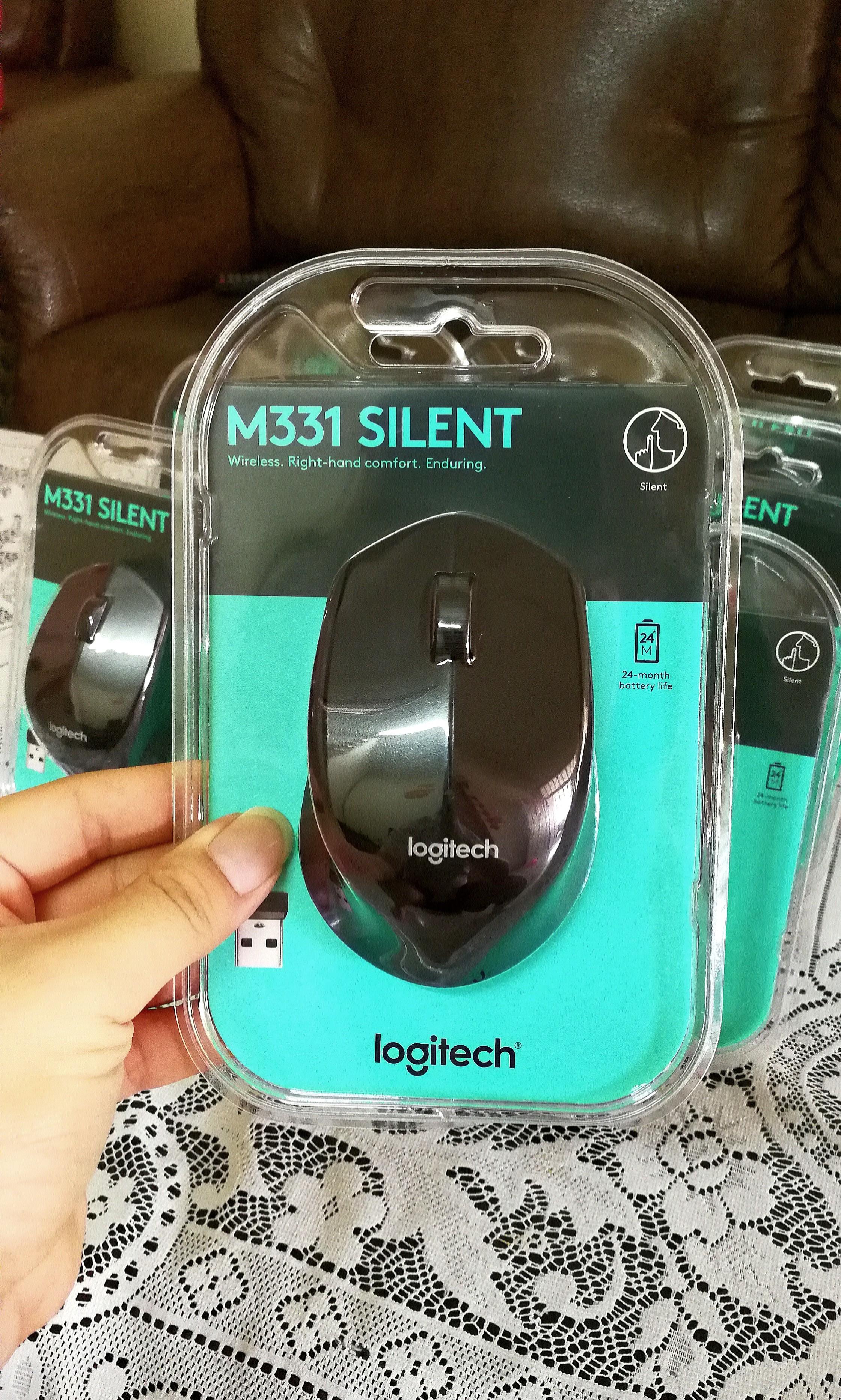 Logitech Wireless Mouse M331 Silent Plus Original Black Spec Dan Wireles M 331 Replace M280 Mouseblack Color Electronics Computer Parts Accessories