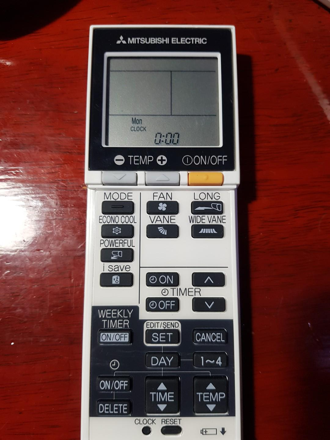 Mitsubishi AC Remote Control, Home Appliances, Cooling & Air