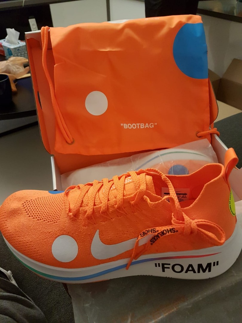 21c6ca329d3c82 Nike Zoom Fly Mercurial Off-White - Total Orange - Size US11.5 ...