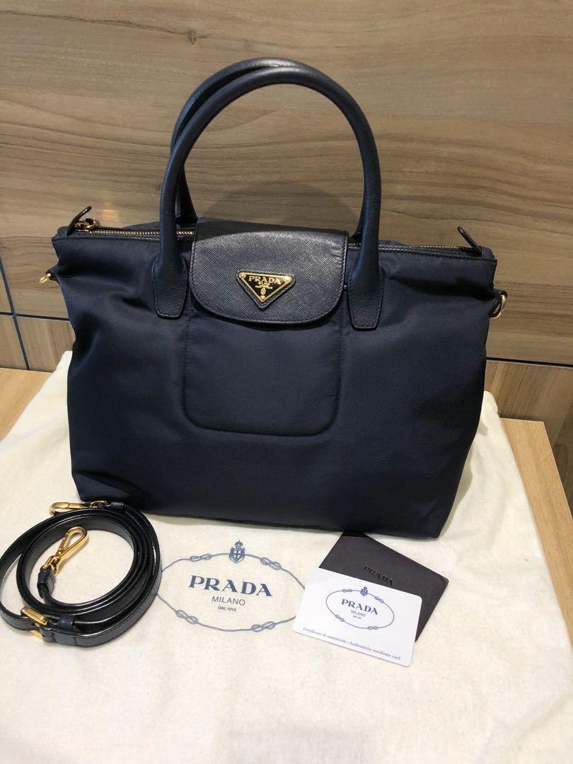 b44e870d58e9 Prada Nylon Bag (Navy Blue) - Price Reduced , Luxury, Bags & Wallets on  Carousell