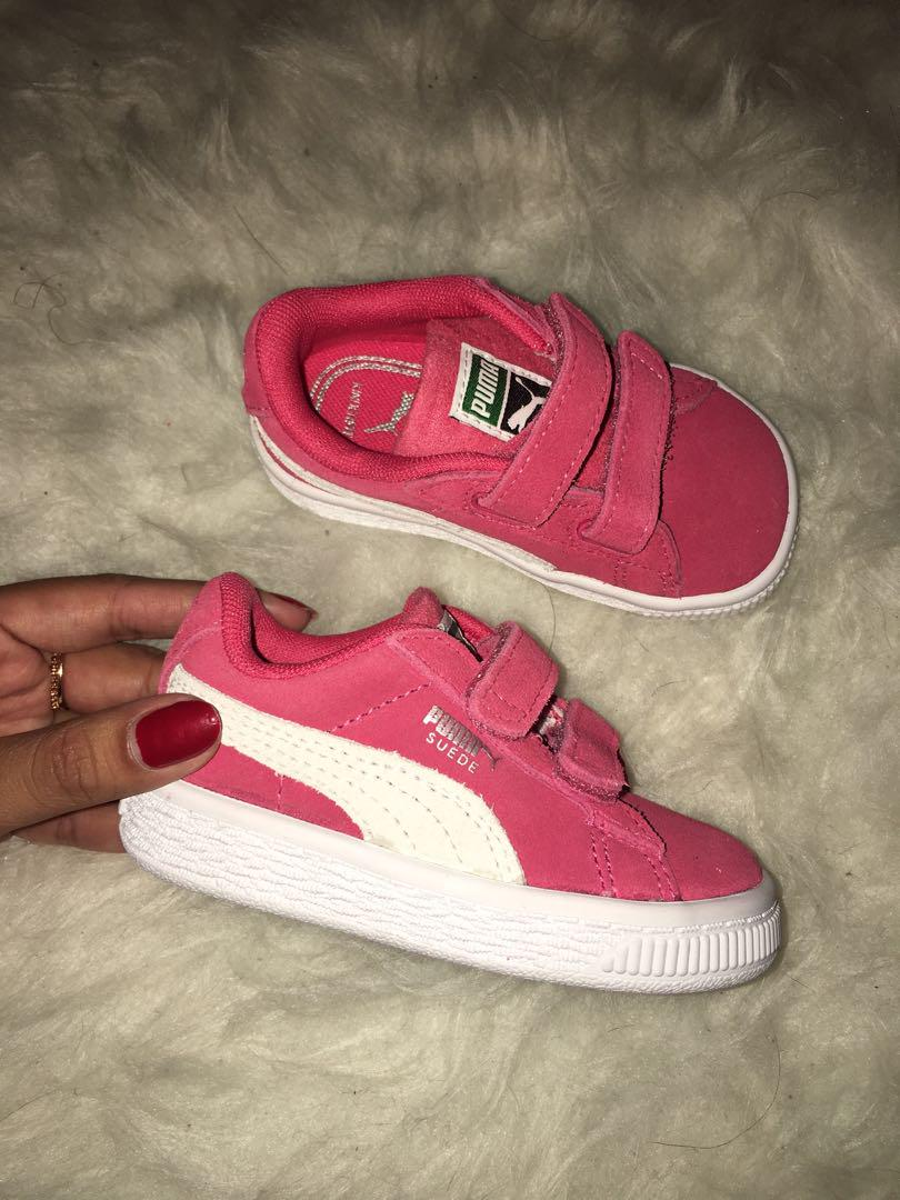 RED PUMA SUEDE TODDLERS SHOES ✨