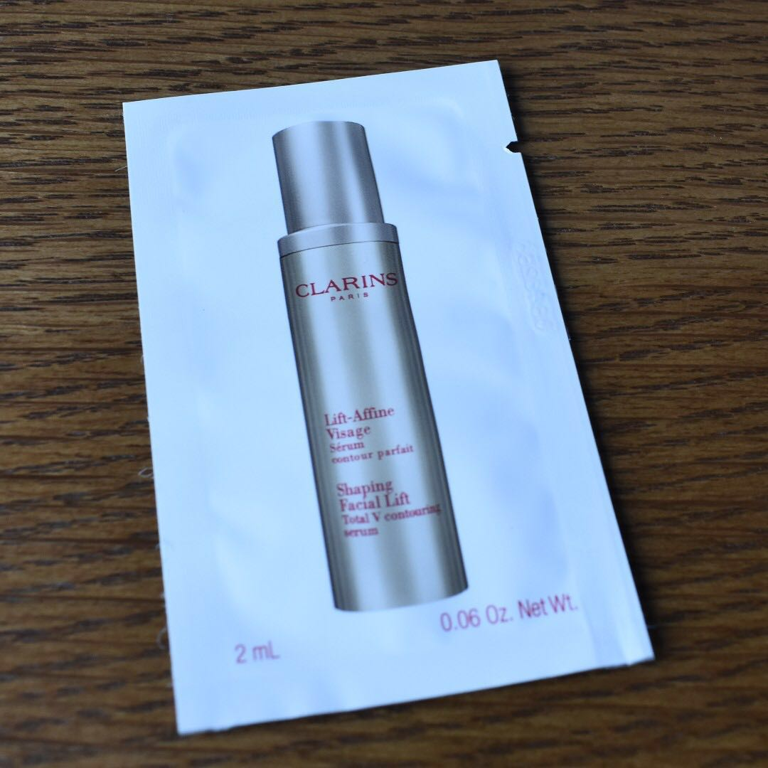 Shaping Facial Lift Total V Contouring Serum Minis 2ml Sachets Clarins New Version 10ml Health Beauty Face Skin Care On Carousell