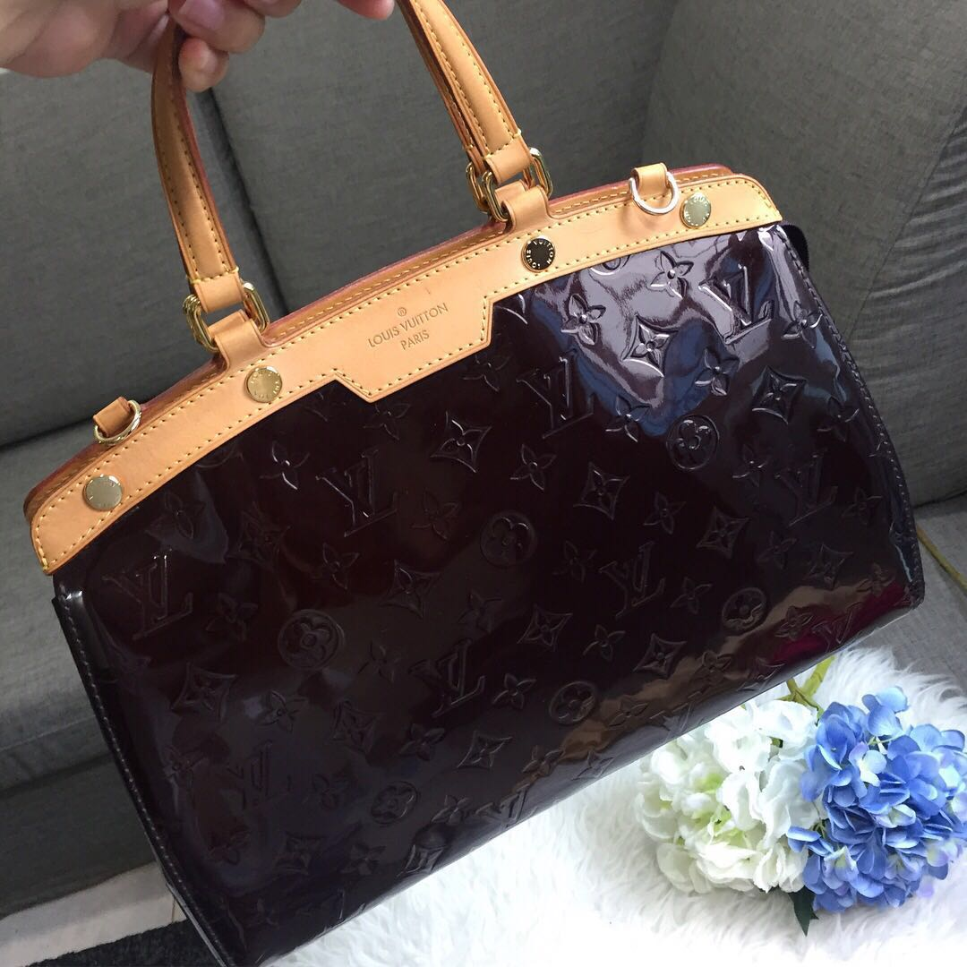 LV Brea MM in Amarante Vernis Leather, Luxury, Bags   Wallets, Handbags on  Carousell 04e5616444