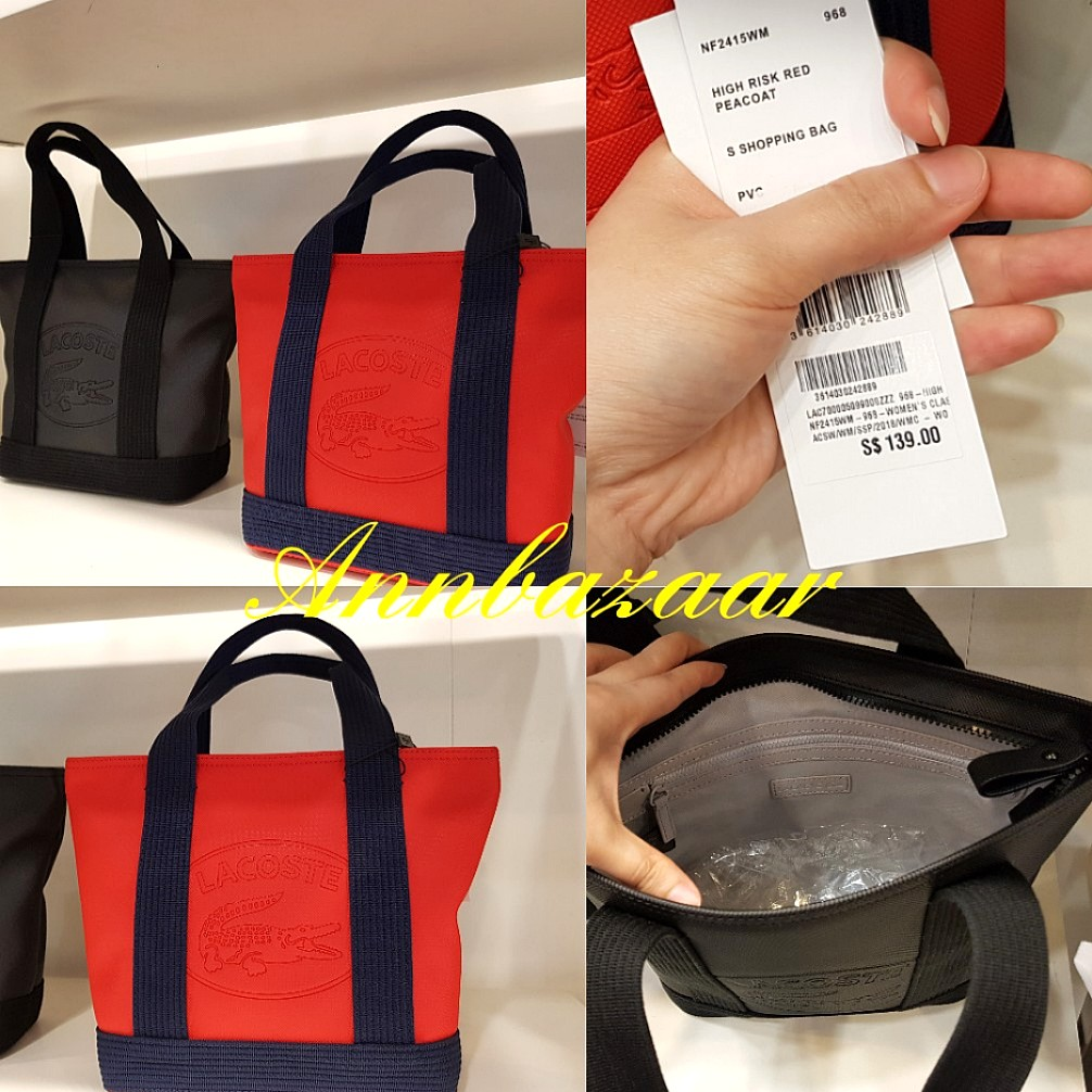 b5c3b218c7ba INSTOCK SPECIAL OFFER! Lacoste Hand or Shopping Bag Small- RED ...
