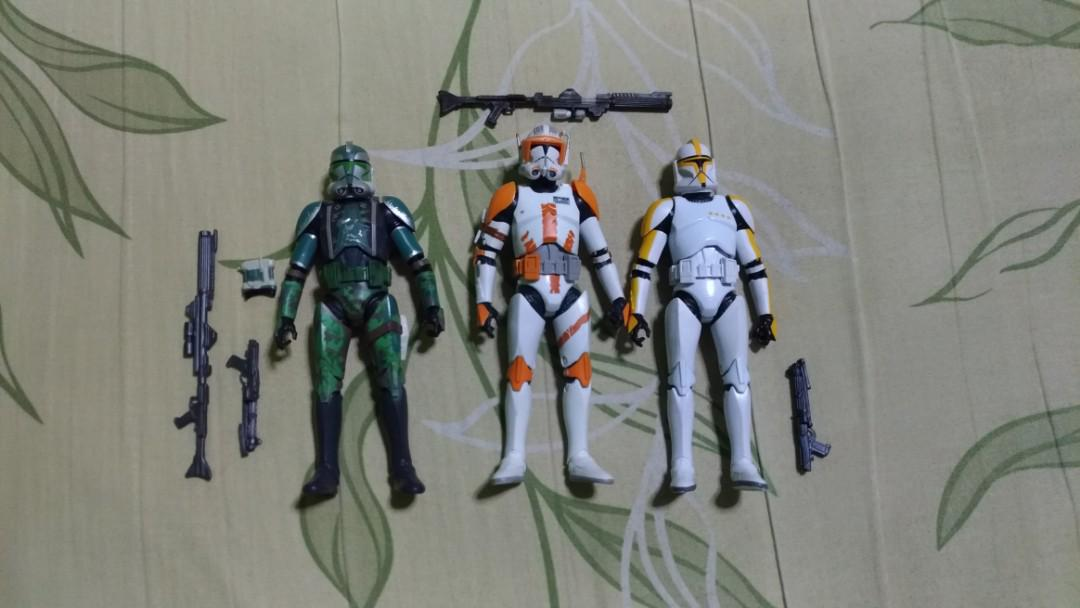 Star Wars Black Series Commander Gree, Commander Cody and