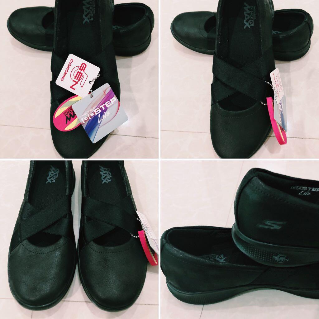 Skechers GoStep Lite Black School Shoes