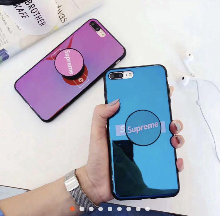 SUPREME PHONE CASE WITH POP SOCKET PO FOR OPPO, Mobile Phones