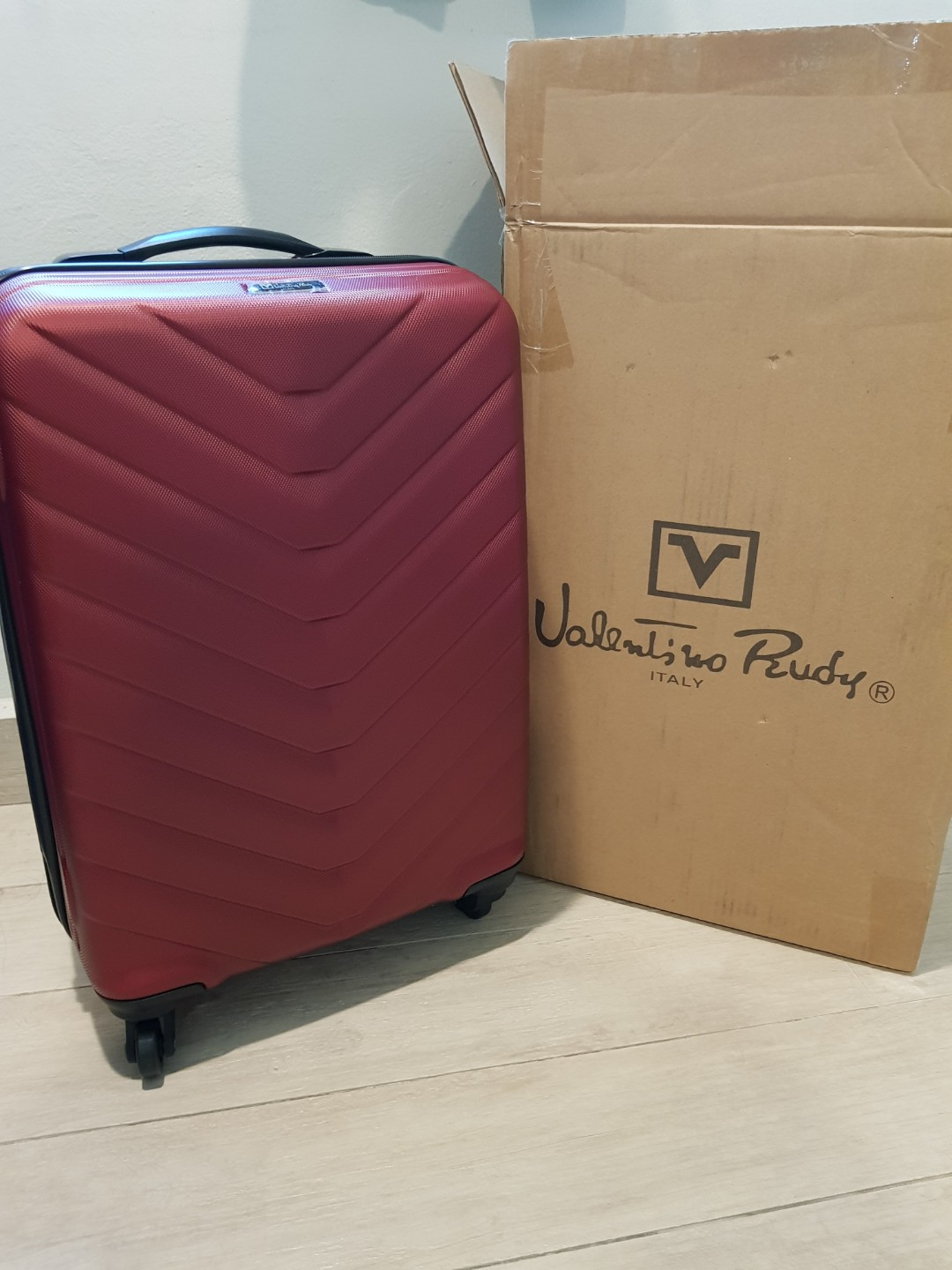 a7105a9d984 Valentino Rudy Luggage Trolley Bag, Travel, Travel Essentials, Luggage on  Carousell