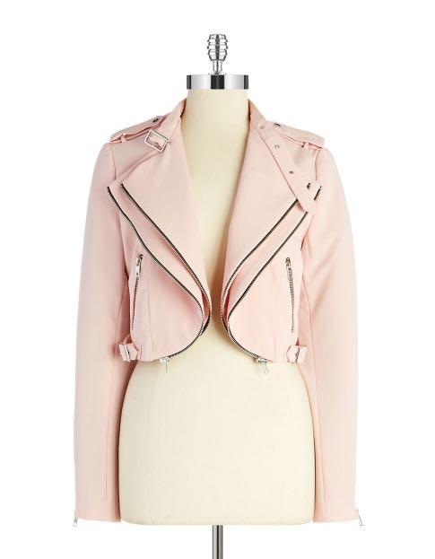 e0aaec83 Zara Cropped Motorcycle Jacket Blazer in Pink, Women's Fashion ...