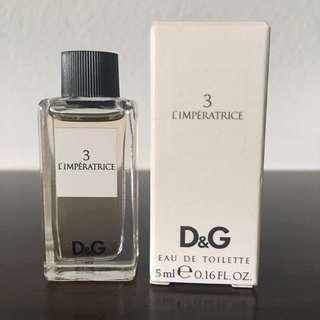 D&G Imperatrice 3. — Mini 5ml — Brand new, Rare, FREE normal postage