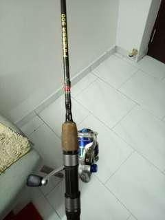Mambo magic stick Rod+sumano2500reel