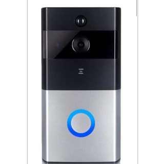 Doorviewer for door connected to wifi handphone app