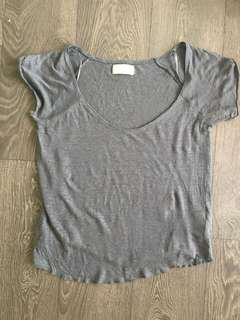 Zara linen grey t Shirt Size small