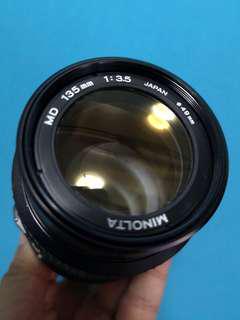 Minolta MD 135mm F3.5 (Minolta MD mount)