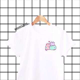 Instock | Pusheen Pals White Tumblr Tee Pastel Cute T-shirt