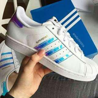 [INSTOCK] Adidas Superstar Holographic Hologram Iridescent Shoes (BNIB)