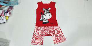 *BN Zebra T-Shirt & Short 2yo