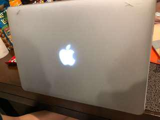 "Mac Air 13"" Shell Case in Frosted White shade"