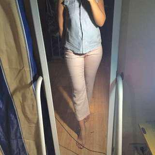 Original Mango Blush Pink Summer Trousers