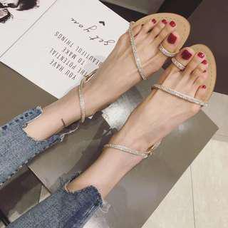 🚚 預購_水鑽款羅馬涼鞋