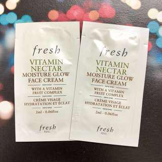 Fresh 維他果蜜亮活面霜 FRESH Vitamin Nectar Moisture Glow Face Cream 2ml
