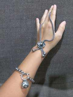 老銀項鍊/整條都是銀,厚實,重,鍊子粗