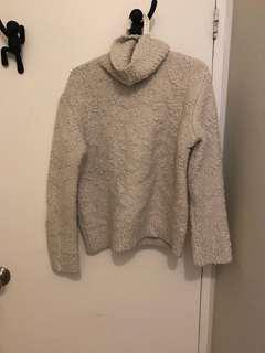 White soft and fluffy turtle neck sweater from Zara - size small