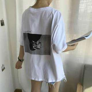 PO // Oversized Abstract Art Graphic Tee