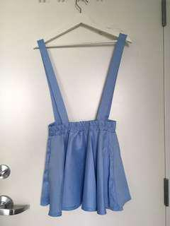 blue overall skirt/dress