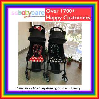 🚚 FREE DELIVERY Compact Cabin Stroller (Mickey / Minnie)