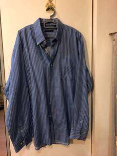 blue stripes formal top #under9