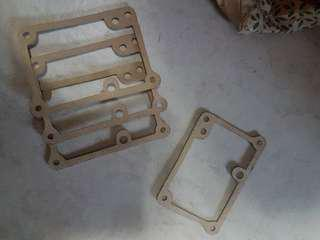 RXZ caburater gasket 4 pcs left