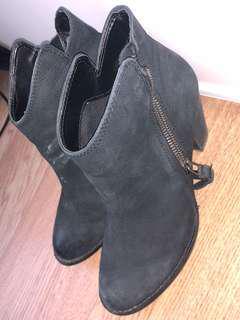 Black winter Booties
