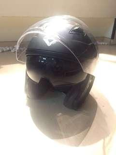 Taraz T#0.1 Open Faced Helmet with built-in Sun Visor