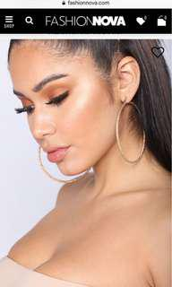 Fashionnova gold hoop earrings