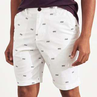 AUTHENTIC HOLLISTER White Pattern Classic Shorts