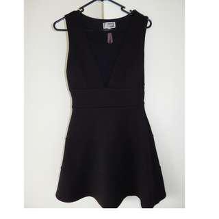 Women's Lipsy Little Black Dress Mesh Cut-Out Size 10