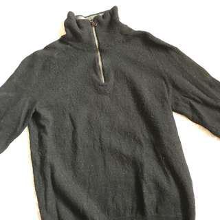 Zip Up Mock Turtle Neck Sweater