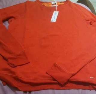 Authentic BN Diesel Men Red Long Sleeves Cotton Pullover