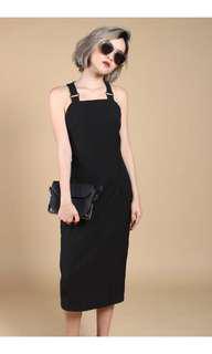 YHF In Too Dip Dress in Black