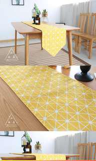 BN Tablecloth yellow geometric nordic + 1 cushion cover