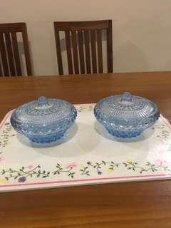 Blue Glass candy bowl