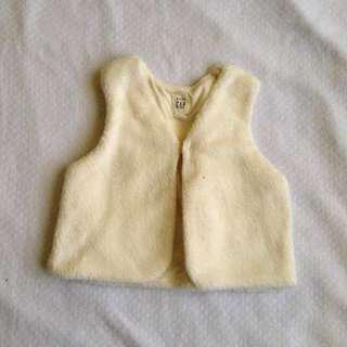 Gap Winter fur vest 6/12mos
