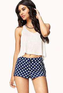 Blue and white polka dots shorts #under9